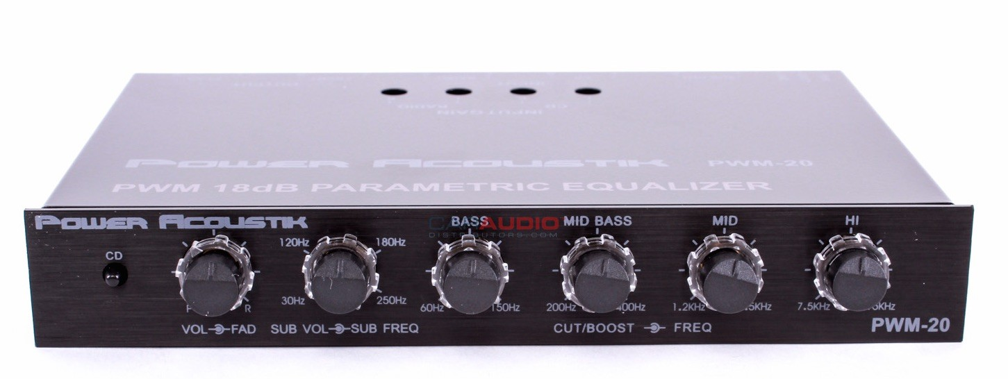 power acoustik pwm 20 4 band parametric equalizer