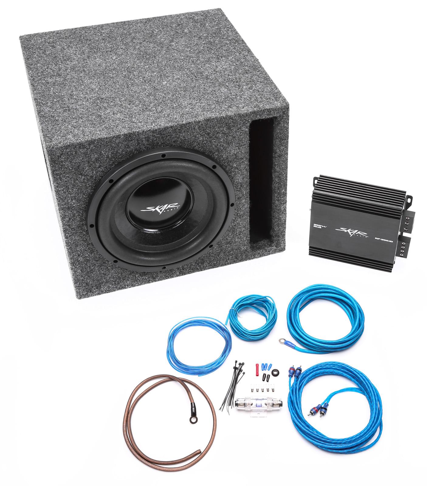 Skar Audio Wiring Diagrams Schematics Ev10 Diagram Single 10u2033 400 Watt Complete Bass Package With Loaded Box Amps