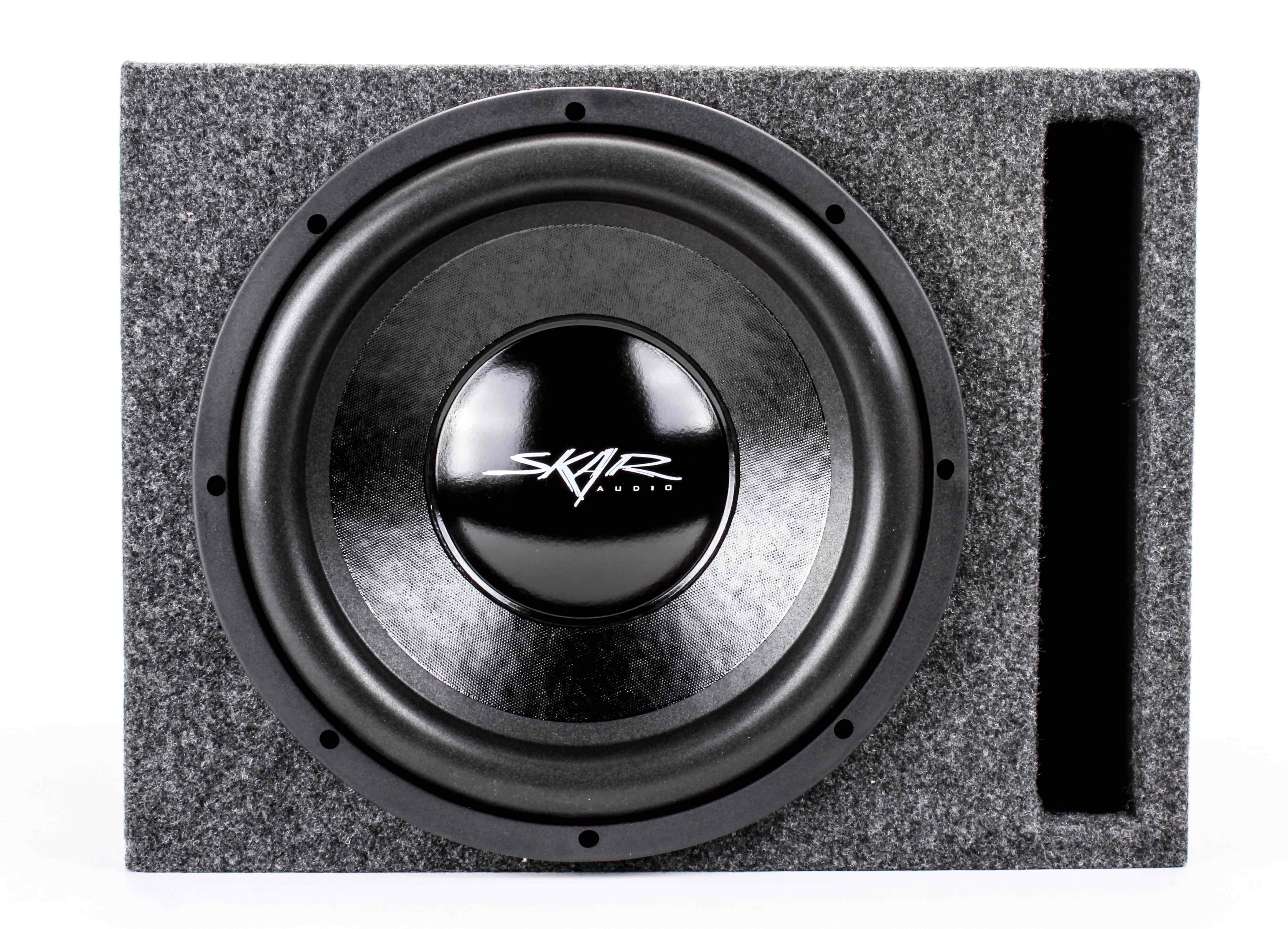 skar audio single vented watt complete car stereo 500 watt complete car subwoofer package 12 inch subwoofer in ported box amplifier and wiring kit