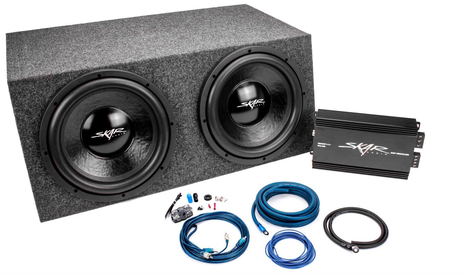 skar audio dual 12 quot 1000 watt ix series complete sub bass package with amplifier ebay